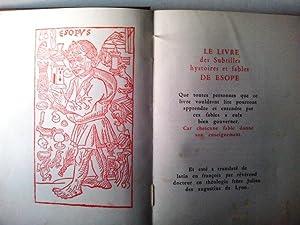 les Fables D'Esope illustrees de gravures sur: Aesop Esope