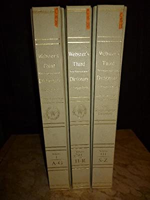 Seller image for Webster's Third New International Dictionary of the English lLnguage, unabridged with Seven Language Dictionary (A Complete set of 3 Volumes / Tres vols. completo) for sale by Carmichael Alonso Libros