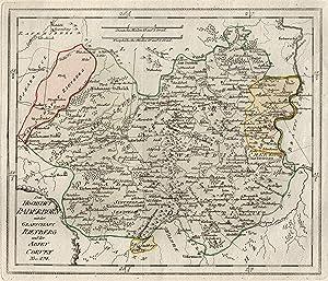 """Kst.- Karte, v. Reilly, """"Das Hochstift Paderborn mit der Grafschaft Rietberg und der Abtey ..."""