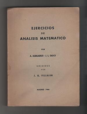Ejercicios de análisis matemático: ALBALADEJO, A.; GASCÓ,