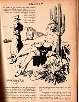 Snappy - April 1938 issue. Vintage pulp, girlie, pin-up magzazine. Earl Bergey: Staff, D.M. ...