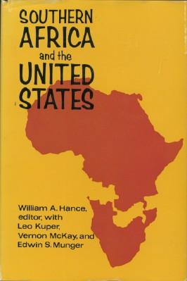 Southern Africa and the United States: Hance, William, Editor