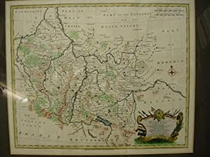 A New And Correct Map of the South West Part of Germany, containing the Archbishopricks and ...