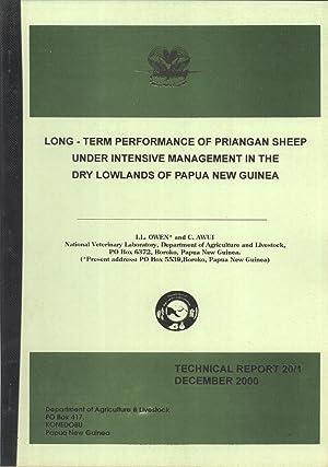 Long-term Performance of Priangan Sheep Under Intensive: I. L. Owen