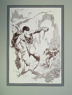 Edgar Rice Burroughs 4 Stone Knives -: Frank Frazetta
