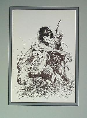 Edgar Rice Burroughs 6 Terrific Blow -: Frank Frazetta