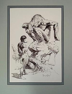 Edgar Rice Burroughs 9 Man Brute -: Frank Frazetta