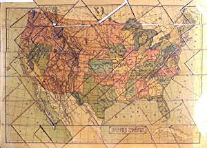 Dissected Map of the United States