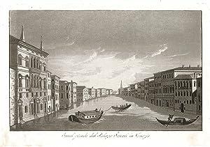 Canal grande dal Palazzo Foscari in Venezia: Gandini Francesco