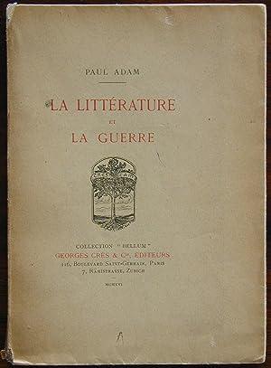 La littérature et la guerre: ADAM, Paul
