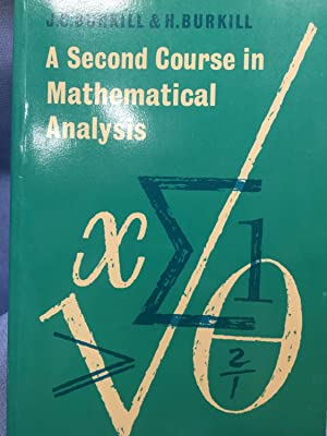 Course Mathematical Analysis First Edition Abebooks