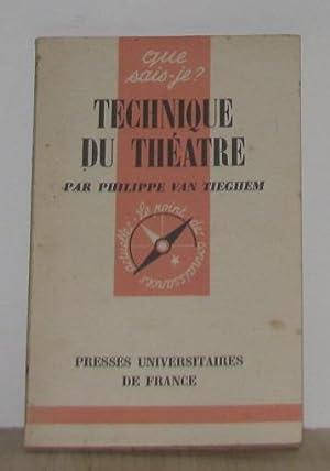 Technique du théatre: Van Tieghem Philippe