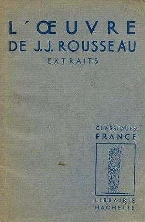 L'oeuvre de J.J. Rousseau: Tieghem Van Philippe
