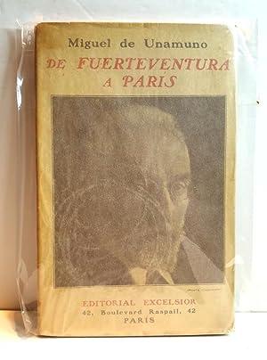 De Fuerteventura a París. Diario Intimo de: UNAMUNO, Miguel de.