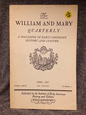 The William and Mary Quarterly: A magazine