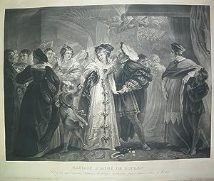Retrato de MARIAGE D¿ANNE DE BOULEN (Matrimonio: Jazet. Jean Pierre-Marie,
