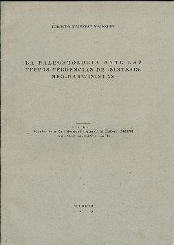 La paleontología ante las nuevas tendencias de: Meléndez, Bermudo