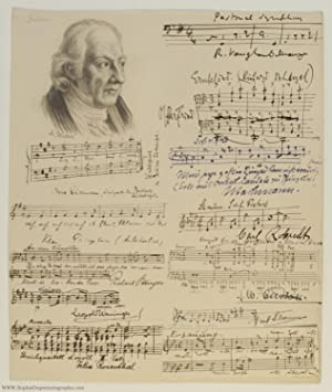 Autograph Musical Quotation Signed, (Ralph, 1872-1958, British Composer)