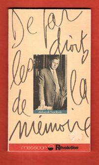 De par Les Droits de La Mémoire: TVARDOVSKI Aleksandr