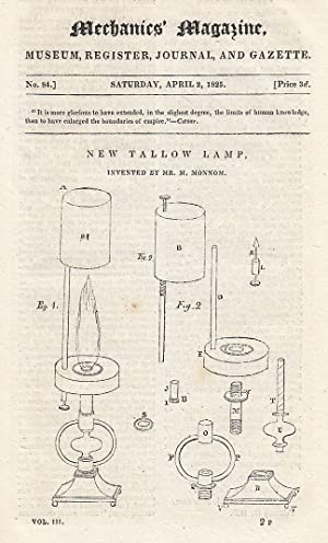 New Tallow Lamp; Fallacy of Mr. Robert's