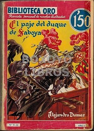 El paje del Duque de Saboya. Traducción de A. Fuentes: DUMAS, Alejandro