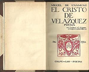EL CRISTO DE VELAZQUEZ.: UNAMUNO, Miguel de.
