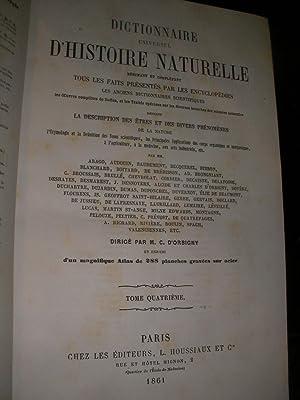 DICTIONNAIRE UNIVERSEL D'HISTOIRE NATURELLE (TOME 4 SEUL): D'ORBIGNY CHARLES