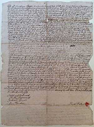 18th-Century Document Authorizing a Sale of Land