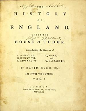 The history of England, under the House: Hume, David