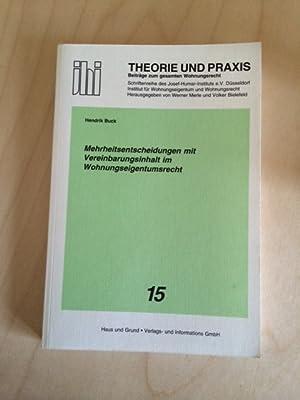 Schriftenreihe des Josef-Humar-Instituts e. V. Düsseldorf - Band 15: Mehrheitsentscheidungen mit ...