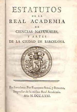 Estatutos de la Real Academia de Ciencias