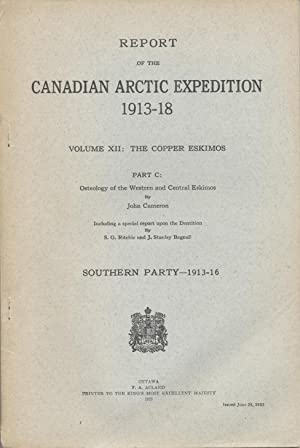 Report of the Canadian Arctic Expedition 1913-18: Cameron, John