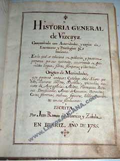 Historia general de Vizcaya: Iturriza y Zabala,
