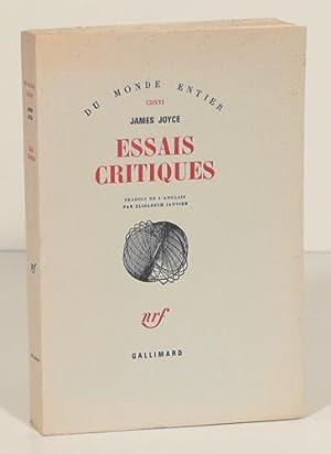 ESSAIS CRITIQUES. Traduit de l'anglais par Elisabeth: JOYCE (James).