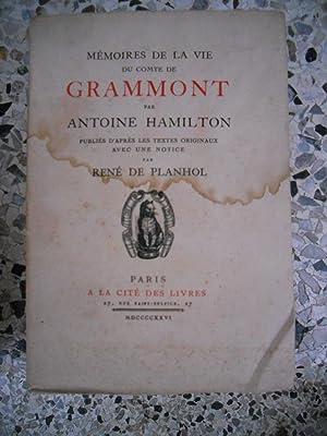 Memoires de la vie du Comte de: Antoine Hamilton -