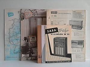 26 Service-Anleitungen für Radiogeräte: SABA GmbH, Villingen-Schwenningen (Hrsg.)