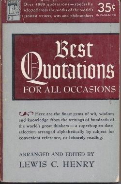 BEST QUOTATIONS FOR ALL OCCASIONS: Henry, Lewis C.
