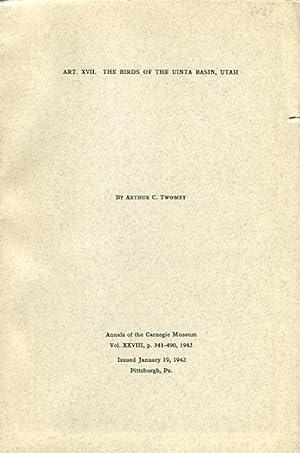 The Birds of the Uinta Basin, Utah: Twomey, Arthur C.