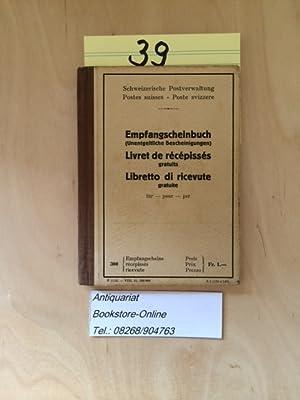 Empfangscheinbuch (Unentgeltliche Bescheinigung) / Livret de recepisses (gratuits) / Libretto di ...