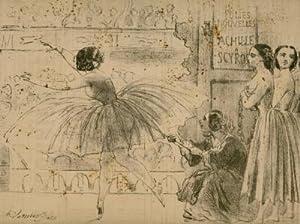 La Crinolinomanie. Crinoline parasol se développant en: Daumier: