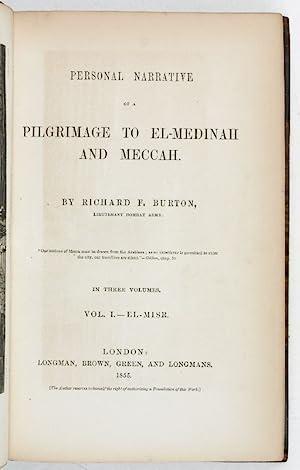Personal Narrative of a Pilgrimage to El-Medinah: Burton, Sir Richard