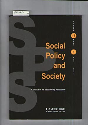 Social Policy And Society : A Journal Of The Social Policy Association : Volume 12 : Part 3 : 2013