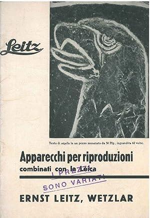 Apparecchi per riproduzioni combinati con la Leica: Leitz