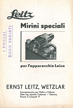 Mirini speciali per l'apparecchio Leica: Leitz