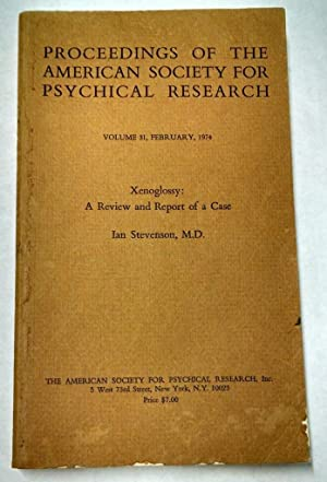 Proceedings of the American Society for Psychical: Ian Stevenson