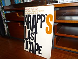 Krapp's Last Tape and Other Dramatic Pieces: Beckett, Samuel