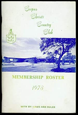 Membership Roster 1973 with By-Laws and Rules