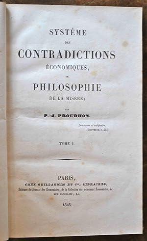Système des contradictions économiques, ou philosophie de: PROUDHON (Pierre-Joseph).