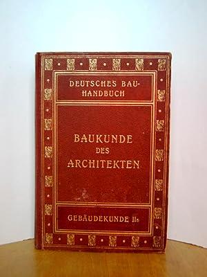 Baukunde des Architekten. (Deutsches Bauhandbuch.) u. Mitw.