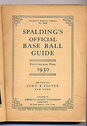 Spalding's Official Base Ball Guide 1930: FOSTER, John B.